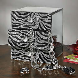 Personalized Zebra Jewelry Box