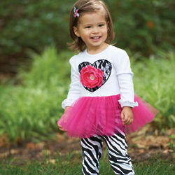 Baby Girl's Zebra Tunic and Leggings
