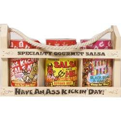 A** Kickin' Salsa Crate Gift Set