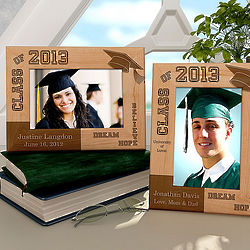 Personalized Dream, Hope, Believe Wooden Picture Frame