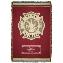 Personalized Firefighter Throw