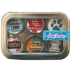 Dog Lover Bottle Cap Magnets