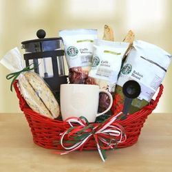 Italian Coffee Starbucks Gift Basket