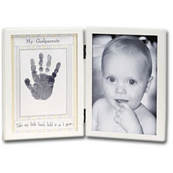 My Godparents Photo Frame with Handprint