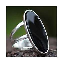 Night Light Onyx Cocktail Ring