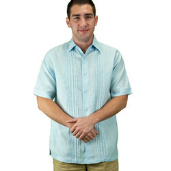 Men's Light Blue Beach Wedding Shirt