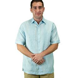Men's Light Blue Beach Wedding Shirt