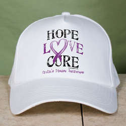 Hope Love Cure Crohn's Disease Awareness Hat