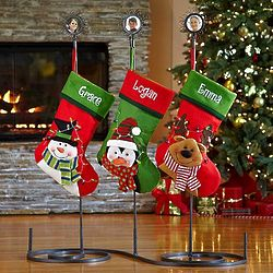 Metal Stocking Holder with 3 Holders