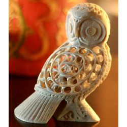 Mother Owl Soapstone Sculpture