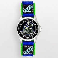 Kid's Silver Tone ATV Racer Watch