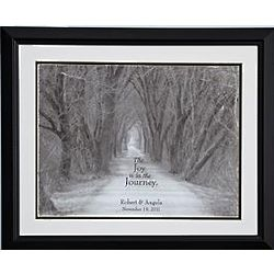 Personalized Joy is the Journey 14x18 Framed Print
