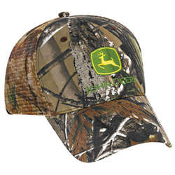John Deere Camo Cloth and Mesh Cap