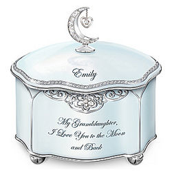 Granddaughter Love You to the Moon Personalized Music Box