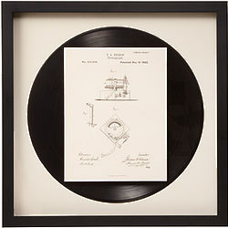 Phonograph Patent Framed Wall Art