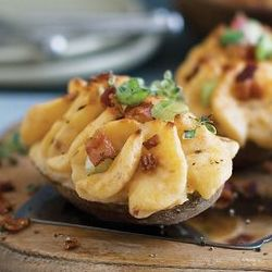 4 Cheese and Bacon Stuffed Baked Potatoes