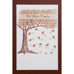 Personalized Fall Family Tree Canvas Art Print