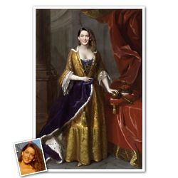 Classic Painting Queen Anne Personalized Print