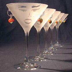 Carmen Martini Glass with Fruit Earrings