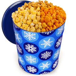 3.5 Gallons of Traditional Mix Popcorn in Winter Wonderland Tin