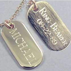 Engraved Ring Bearer Tag