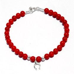 Coral Beads Horseshoe Bracelet