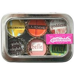 Girlfriends Bottle Cap Magnets