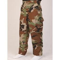 Rip-Stop Woodland Camo BDU Pants