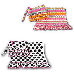 Personalized Towel and Matching Clutch Set
