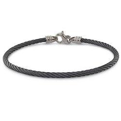 Ladies 3mm Black Titanium Cable Bracelet