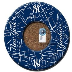 New York Yankees Bronx Map Coasters with Game Used Dirt