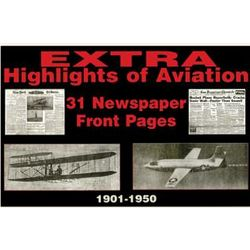 Aviation History Newspaper Replica Set