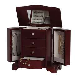 Shannon Musical Jewelry Box in Cherry