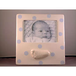 Personalized Ceramic Foot Polka Dot Frame