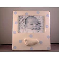Personalized Ceramic Foot Polka Dot Frame