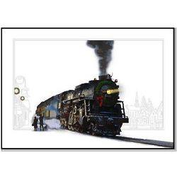 Winter Train Scene Christmas Card