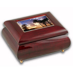 Sunset Music Box with 18 Note Musical Movement