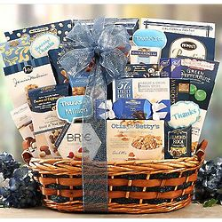 Silver Gala Gourmet Sweets Gift Basket