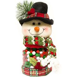 Snowman Jar with Candy