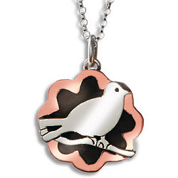 Bird On Branch Pendant