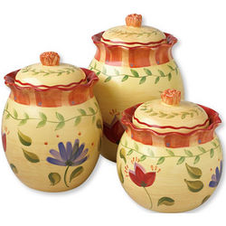 Napoli 3-Piece Yellow Canister Set