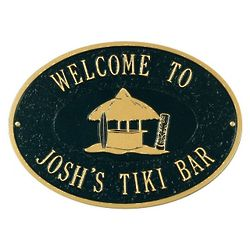 Personalized Tiki Bar Outdoor Plaque