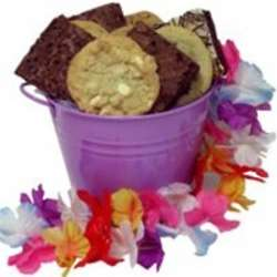 Cookies and Brownies Bucket with Lei