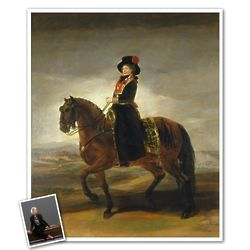 Classic Painting Queen Luisa Personalized Print