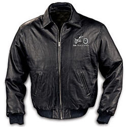 Ride Hard Live Free Leather Motorcycle Jacket