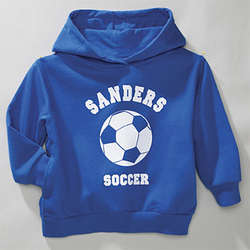 Personalized Royal Blue Youth Sports Hoodie