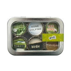 Golf Lover Bottle Cap Magnets