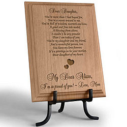 Personalized My Sweet Daughter Wooden Plaque