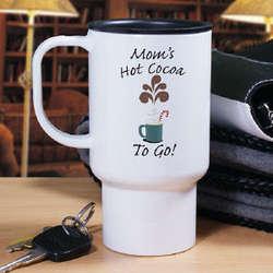 Hot Cocoa To Go Personalized Travel Mug