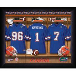 Personalized Florida State Gators Locker Room Framed Print